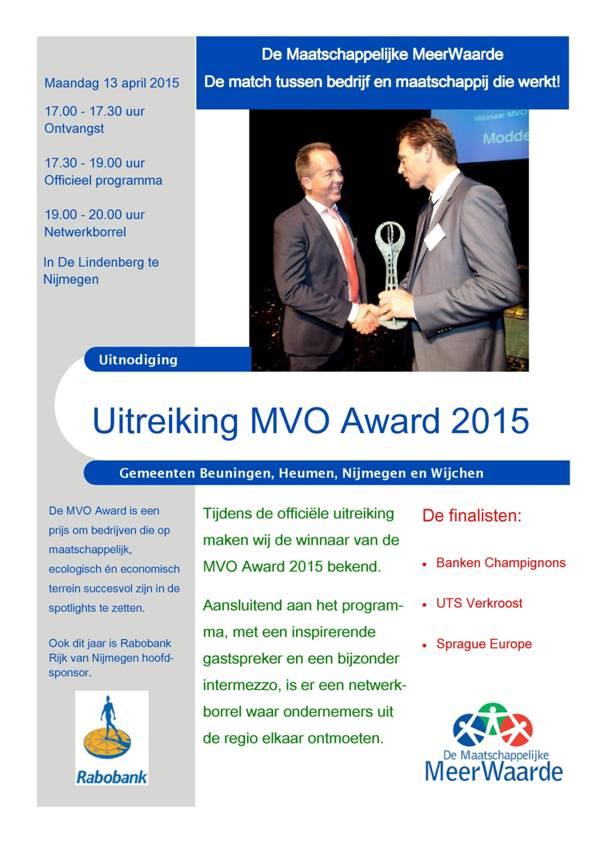 uitreiking MVO-Award 2015